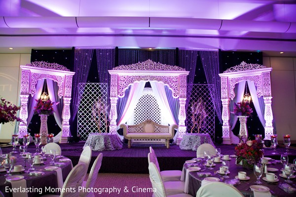 Reception in Ontario, Canada Indian Wedding by Everlasting Moments Photography & Cinema