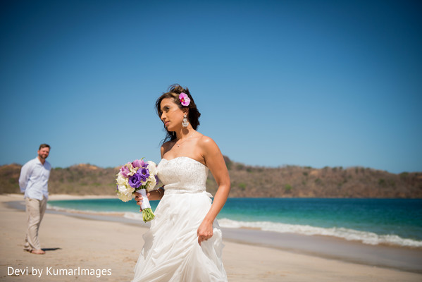 Wedding Portrait in Costa Rica Indian Fusion Destination Wedding by Devi by KumarImages