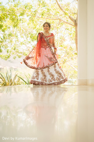 Bridal Portrait in Costa Rica Indian Fusion Destination Wedding by Devi by KumarImages