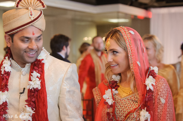 Ceremony in Columbus, OH Indian Fusion Wedding by Mike & Kim LLC