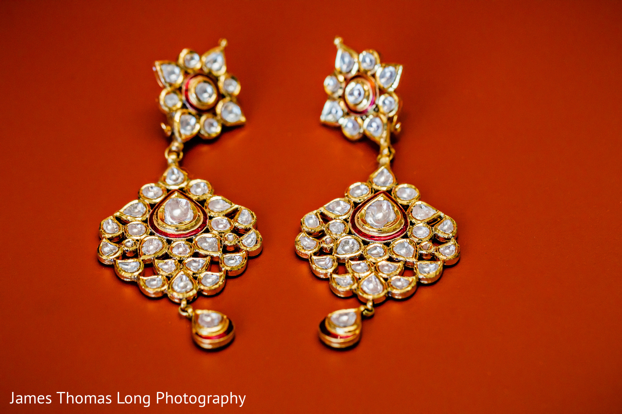 Indian Wedding Earrings Bridal Gold