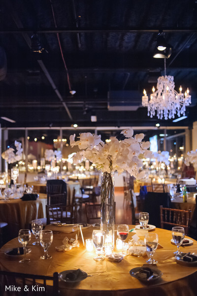 Reception in Columbus, OH Indian Fusion Wedding by Mike & Kim LLC