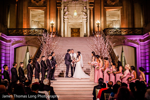 Ceremony in San Francisco, CA Indian Wedding by James Thomas Long Photography