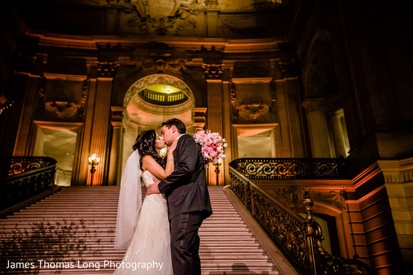 Wedding Portrait in San Francisco, CA Indian Wedding by James Thomas Long Photography