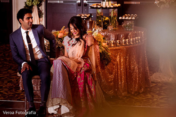 Reception in Houston, TX Indian Wedding by Veroa Fotografia