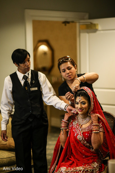 Getting Ready in Somerset, NJ Indian Wedding by Ami Video