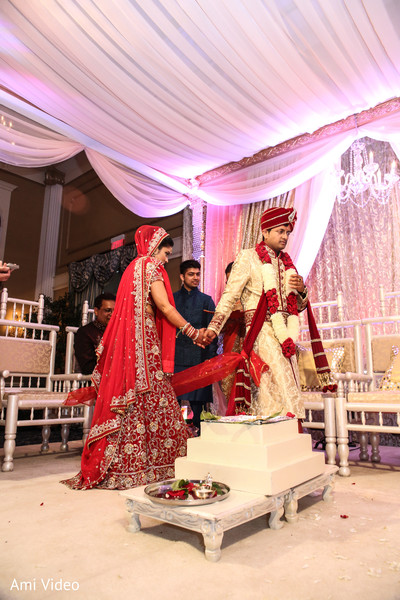 Ceremony in Somerset, NJ Indian Wedding by Ami Video