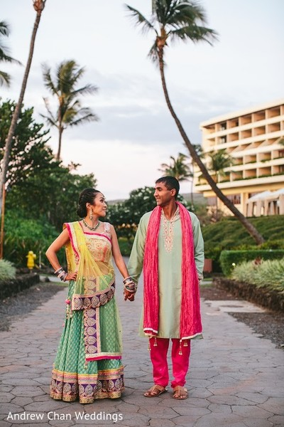 Sangeet in Maui, HI Destination Indian Fusion Wedding by Andrew Chan Weddings