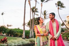 The couple poses in their sangeet fashion!