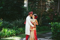 A first look portrait session is held!