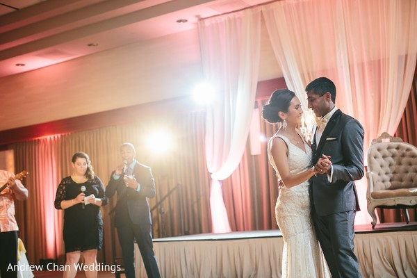 Reception in Maui, HI Destination Indian Fusion Wedding by Andrew Chan Weddings
