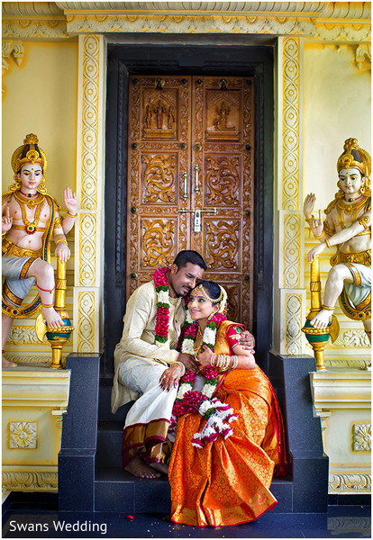 First Look Photo Shoot in Kempas, Malaysia Indian Wedding by Swans Wedding