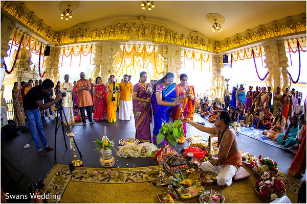 Ceremony in Kempas, Malaysia Indian Wedding by Swans Wedding