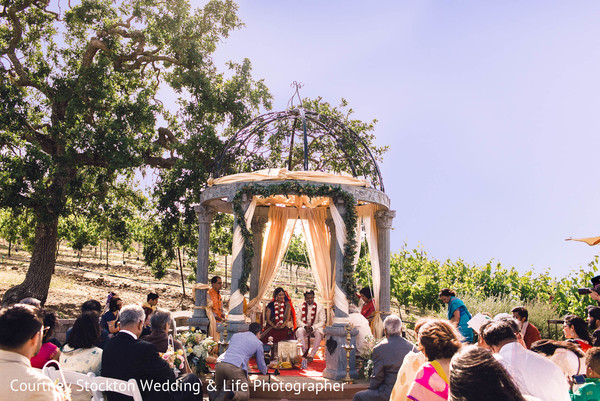Ceremony in Napa, CA Indian Wedding by Courtney Stockton Wedding & Life Photographer