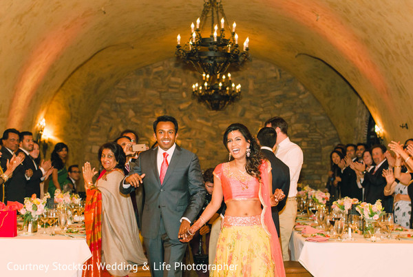 indian fusion wedding reception