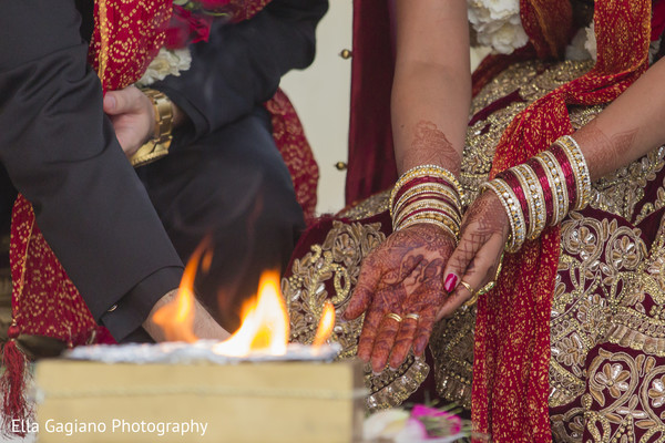 Ceremony in Las Vegas, NV Indian Fusion Wedding by Ella Gagiano Photography