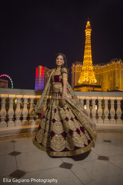 Bridal Portrait in Las Vegas, NV Indian Fusion Wedding by Ella Gagiano Photography