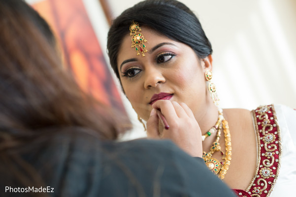 Getting Ready in Mahwah, NJ Indian Wedding by PhotosMadeEz