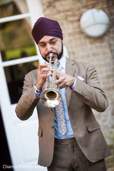 Baraat in Old Windsor, England Sikh Indian Wedding by Channa Photography
