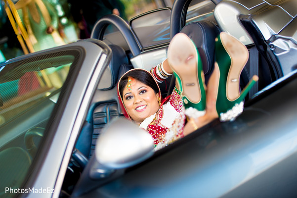 Bridal Portrait in Mahwah, NJ Indian Wedding by PhotosMadeEz