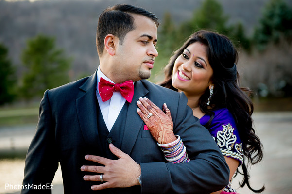 Reception Portrait in Mahwah, NJ Indian Wedding by PhotosMadeEz