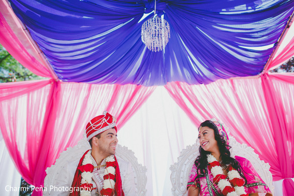 Ceremony in Princeton, NJ Indian Wedding by Charmi Peña Photography