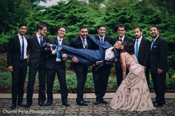 indian wedding portraits,indian groomsmen,indian fusion wedding reception,indian wedding lengha,indian weddings