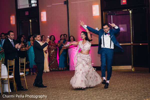 Reception in Princeton, NJ Indian Wedding by Charmi Peña Photography