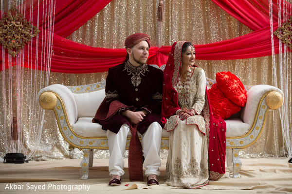 Ceremony in Springfield, VA Pakistani Fusion Wedding by Akbar Sayed Photography