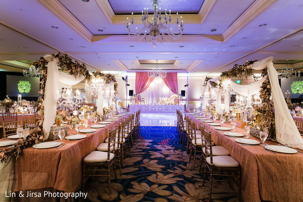 indian wedding reception,floral arrangements,floral centerpiece,indian wedding reception floral and decor