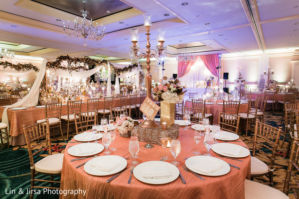 indian wedding reception,floral arrangements,floral centerpiece,indian wedding reception floral and decor,table settings