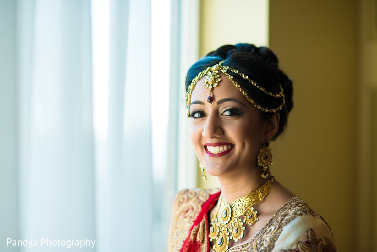 bridal portrait in philadelphia, pa indian wedding by pandya