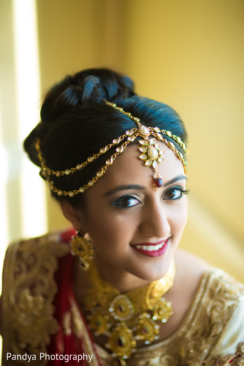 Bridal Front Hairstyle For South Indian Wedding