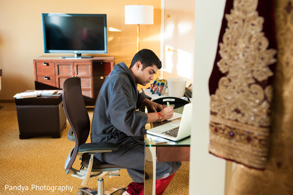 Groom Getting Ready in Philadelphia, PA Indian Wedding by Pandya Photography