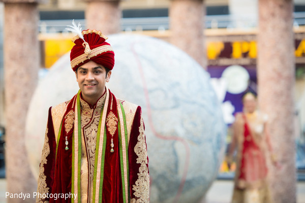 First Look in Philadelphia, PA Indian Wedding by Pandya Photography