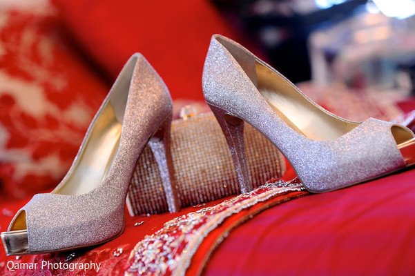 Shoes in Garden City, NY Indian Wedding by Qamar Photography