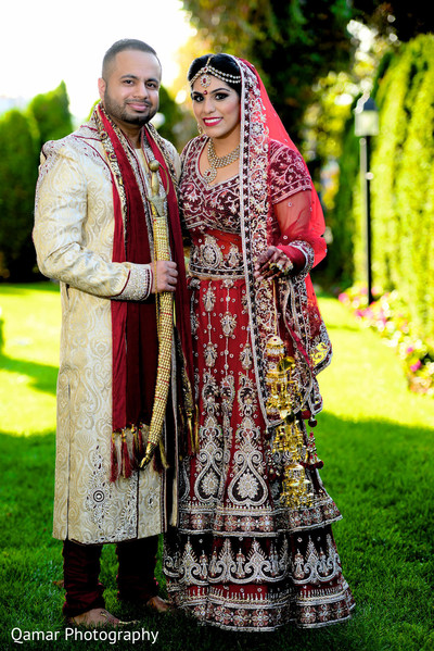indian wedding first look portraits,indian bridal fashions,indian groom fashion,indian bridal hair and makeup,indian wedding lengha,indian groom sherwani