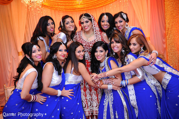 indian wedding portraits,indian bridal party,indian bridesmaids,indian sari,indian wedding lengha