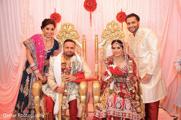 Portraits in Garden City, NY Indian Wedding by Qamar Photography