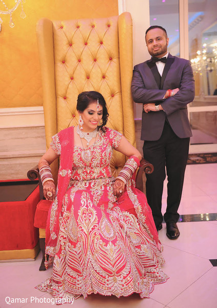 Reception Portraits in Garden City, NY Indian Wedding by Qamar Photography