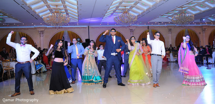 Reception in Garden City, NY Indian Wedding by Qamar Photography