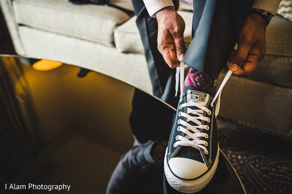 Groom Getting Ready in Miramar, FL South Asian Wedding by I Alam Photography