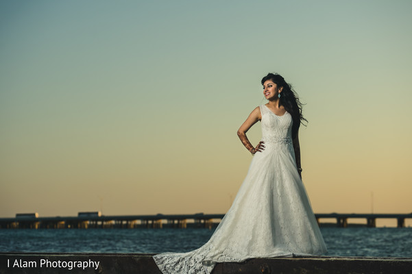 Bridal Portrait in Miramar, FL South Asian Wedding by I Alam Photography