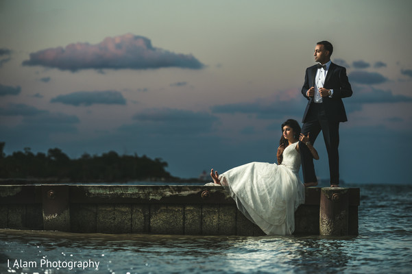 Wedding Portrait in Miramar, FL South Asian Wedding by I Alam Photography