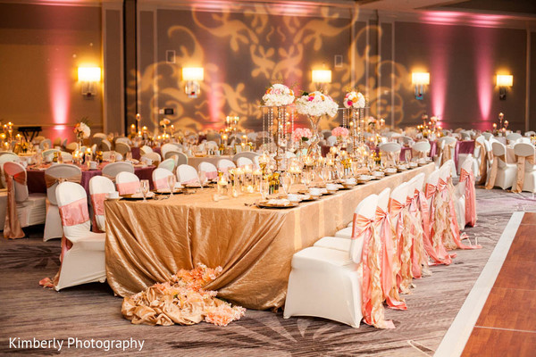 Reception in Fort Myers, FL Destination Indian Wedding by Kimberly Photography