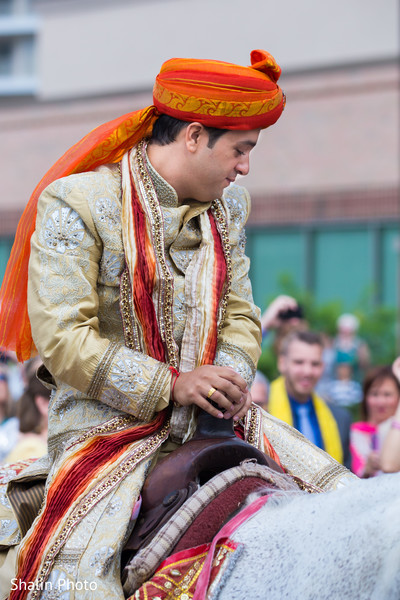 Baraat in Itasca, IL Indian Fusion Wedding by Shalin Photo