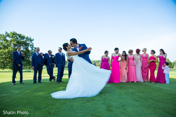 Wedding Portrait in Itasca, IL Indian Fusion Wedding by Shalin Photo