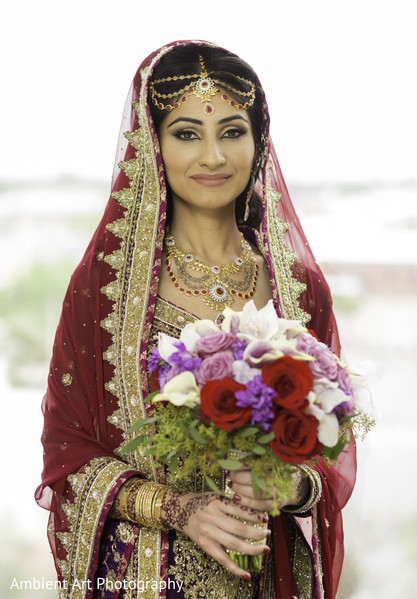 Bridal Portrait in Fresno, CA South Asian Wedding by Ambient Art Photography