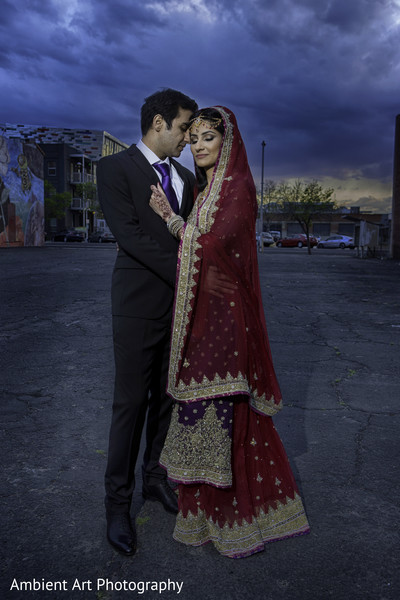 First Look in Fresno, CA South Asian Wedding by Ambient Art Photography