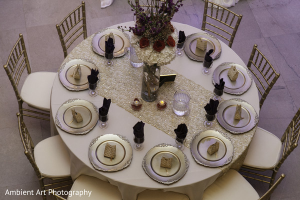 Table Setting in Fresno, CA South Asian Wedding by Ambient Art Photography